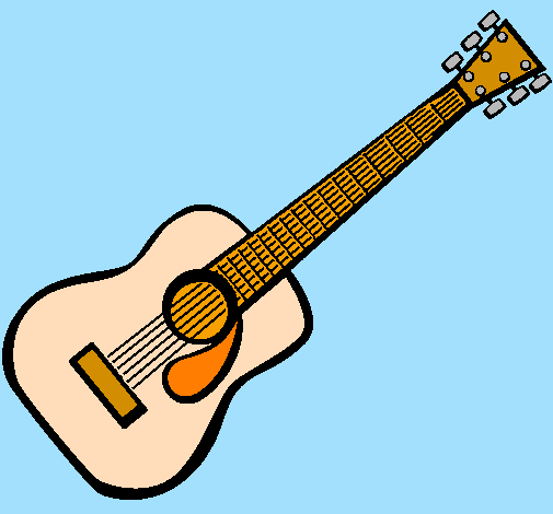 Desenho De Guitarra Espanhola Ii Pintado E Colorido Por Usuario