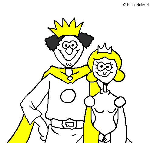 Desenho De Rei E Rainha Pintado E Colorido Por Usuario Nao