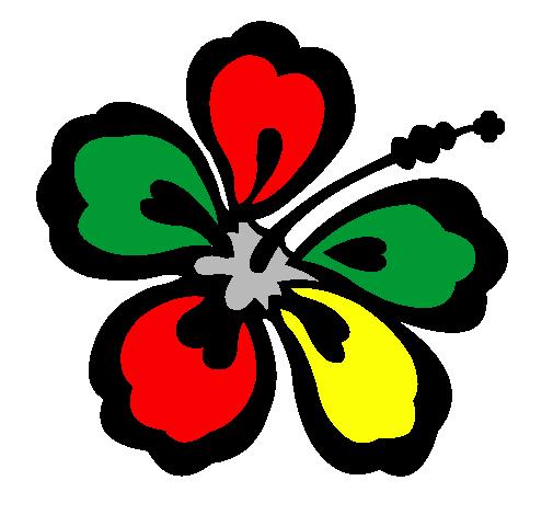 Desenho De Flor Surfista Pintado E Colorido Por Usuario Nao
