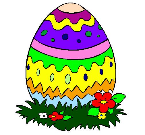 Desenho De Ovo De Pascoa 2 Pintado E Colorido Por Usuario Nao