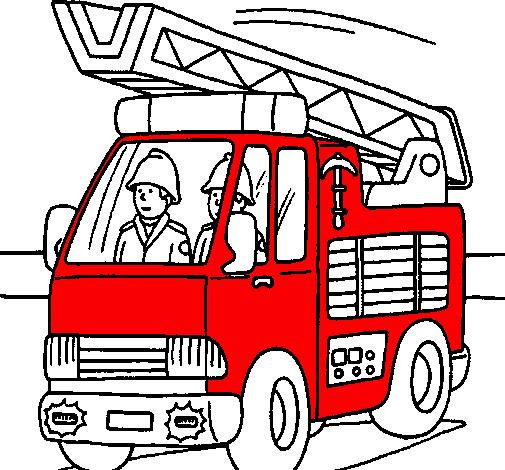 Desenho De Carro De Bombeiros Pintado E Colorido Por Usuario Nao