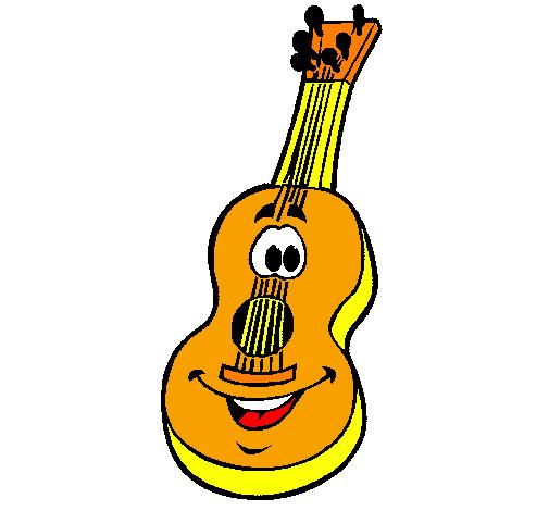 Desenho De Guitarra Espanhola Pintado E Colorido Por Usuario Nao