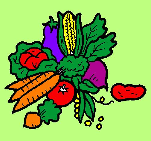 Desenho De Verduras Pintado E Colorido Por Usuario Nao Registrado