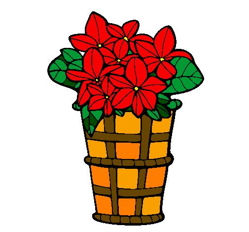 Desenho De Cesta De Flores 3 Pintado E Colorido Por Usuario Nao