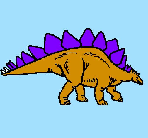 Desenho De Stegossaurus Pintado E Colorido Por Usuario Nao