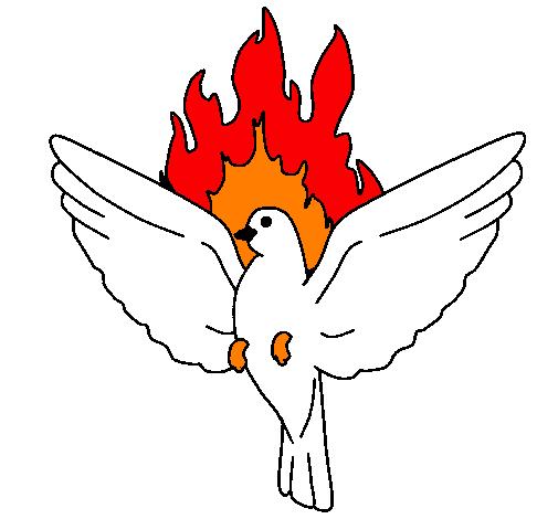 Desenho De Pomba Pentecostal Pintado E Colorido Por Usuario Nao