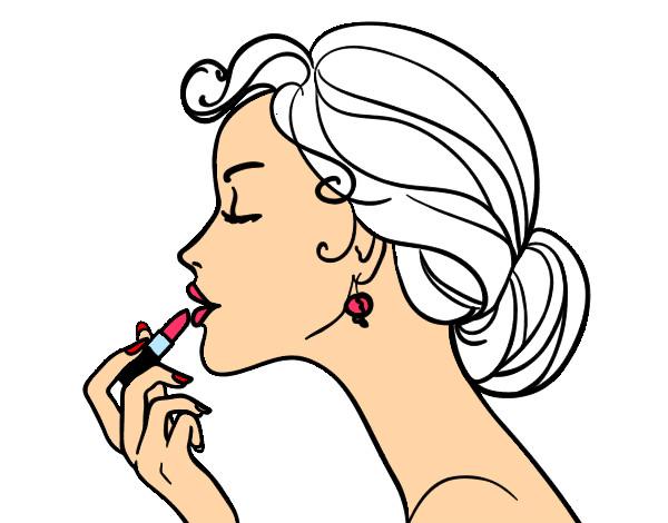 Desenho De Maquiagem Dos Labios Pintado E Colorido Por Samy O Dia