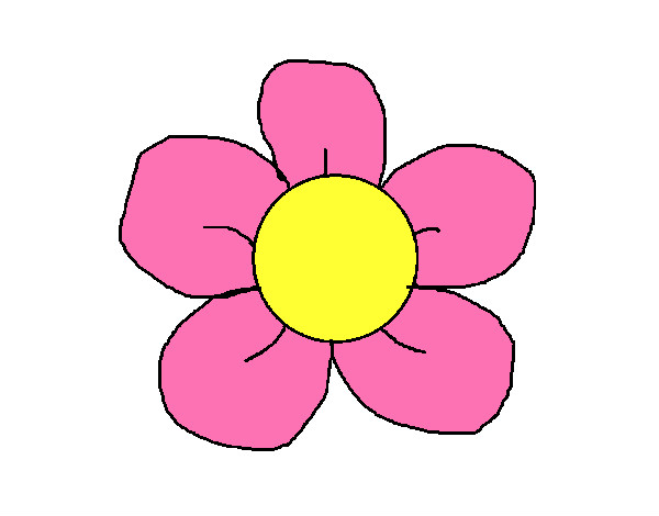 Desenho De Flor 3 Pintado E Colorido Por Wanessa O Dia 06 De