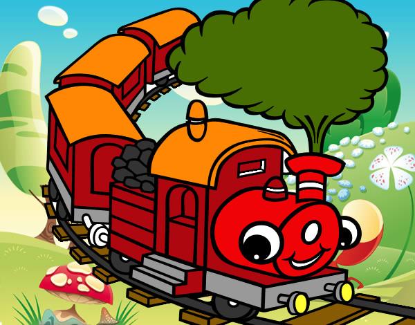 desenhos de veículos comboios pintados e coloridos mas visitados