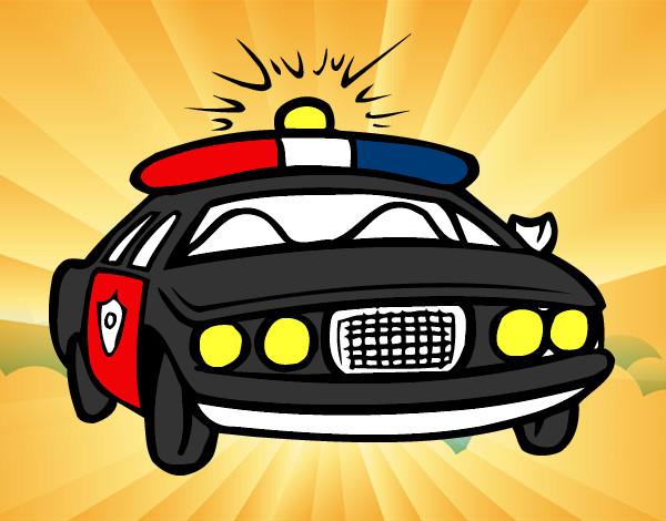 Desenho De Carro De Policia Pintado E Colorido Por Joaozinho O Dia