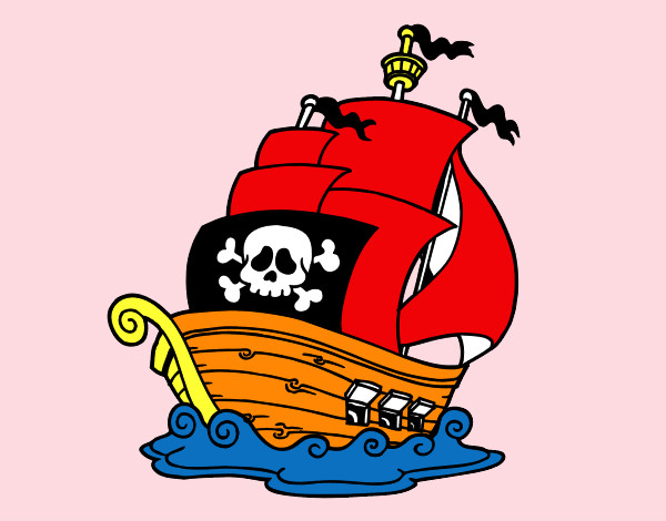 Desenho De Navio Pirata Pintado E Colorido Por Luizfelipe O Dia 07