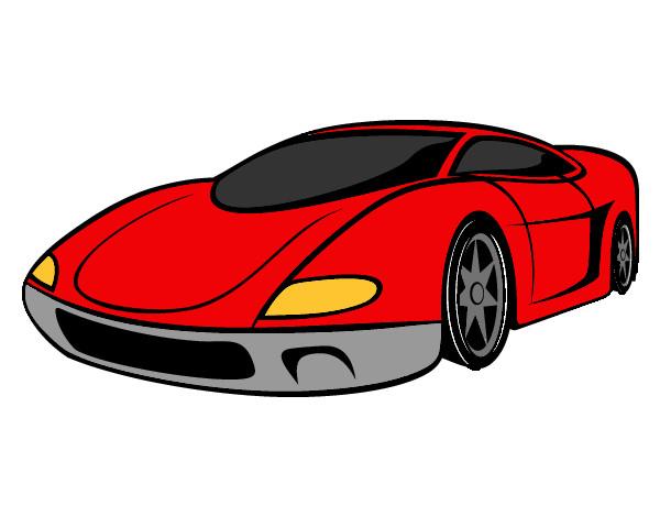 Desenho De Carro Esportivo Pintado E Colorido Por Thainabn O Dia