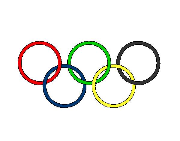 Desenho De Argolas Dos Jogos Olimpicos Pintado E Colorido Por
