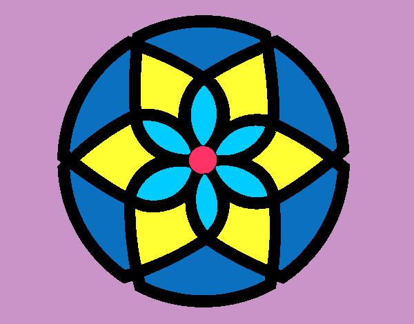 Desenho De Mandala Pintado E Colorido Por Ingridreis O Dia 05 De