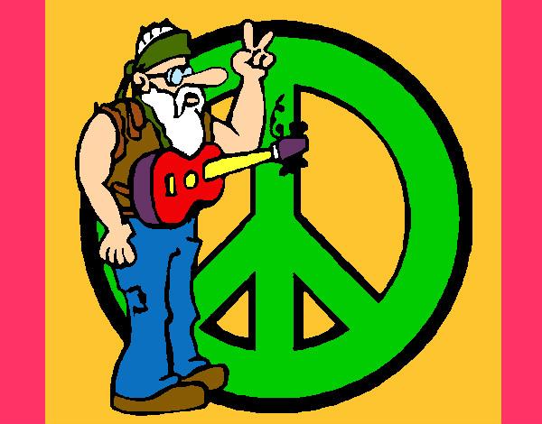 Desenho De Paz E Amor Pintado E Colorido Por Kananda O Dia 03 De