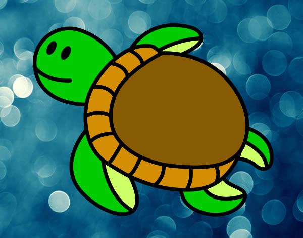 Desenho De Tartaruga Marinha Pintado E Colorido Por Alexia 256 O