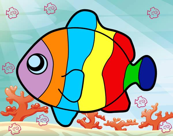 Desenho De Peixe Palhaco Pintado E Colorido Por Cileni O Dia 03 De