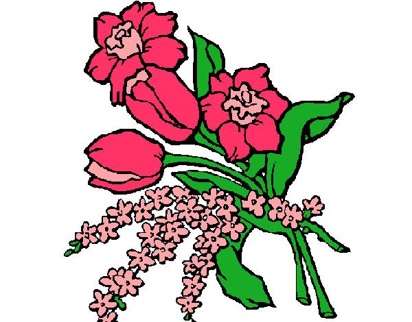 Desenho De Ramo De Flores Pintado E Colorido Por Caah O Dia 19 De