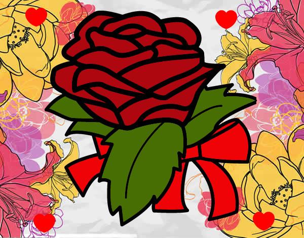Desenho De Rosa Linda Pintado E Colorido Por Juhcorrea O Dia 30 De
