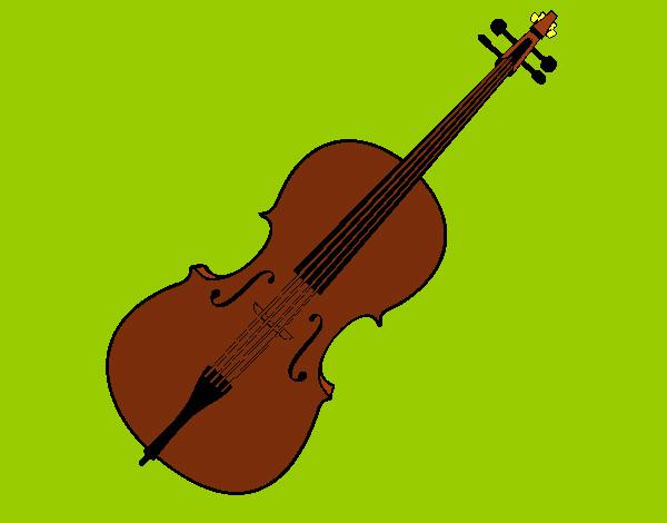 Desenho De Violino Pintado E Colorido Por Imshampoo O Dia 07 De