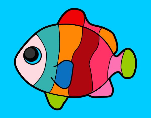 Desenho De Peixinho Colorido Pintado E Colorido Por Carol2008 O