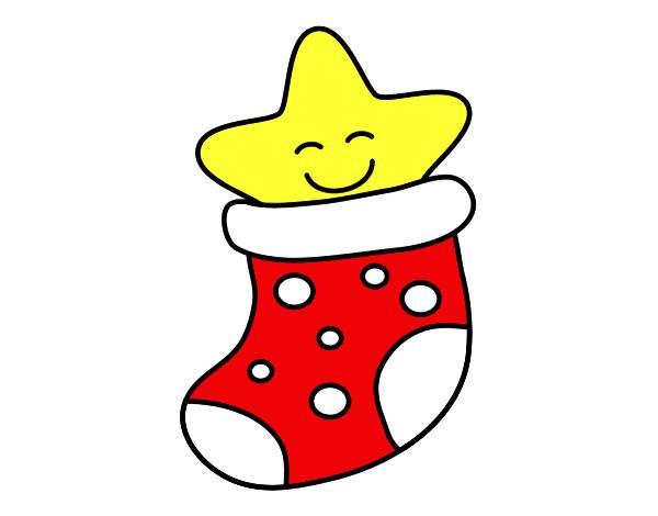 Desenhos De Festas, Meias De Natal Pintados E Coloridos