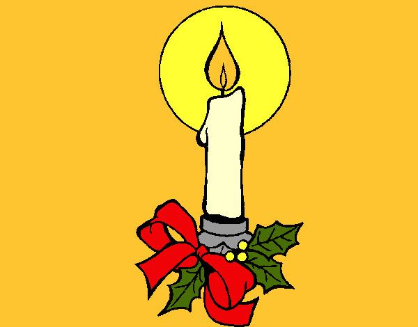 Desenho De Vela De Natal Pintado E Colorido Por Bruna302 O Dia 13