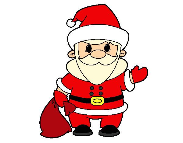 Desenho De Papai Noel Pintado E Colorido Por Marina O Dia 01 De