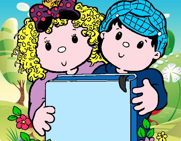 Desenho De Criancas Pintado E Colorido Por Menenzes O Dia 06 De