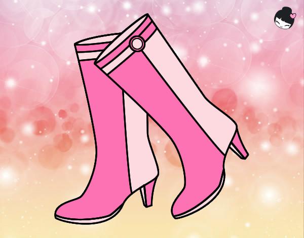 Desenho De Botas Da Barbie Pintado E Colorido Por Sarah O Dia 26