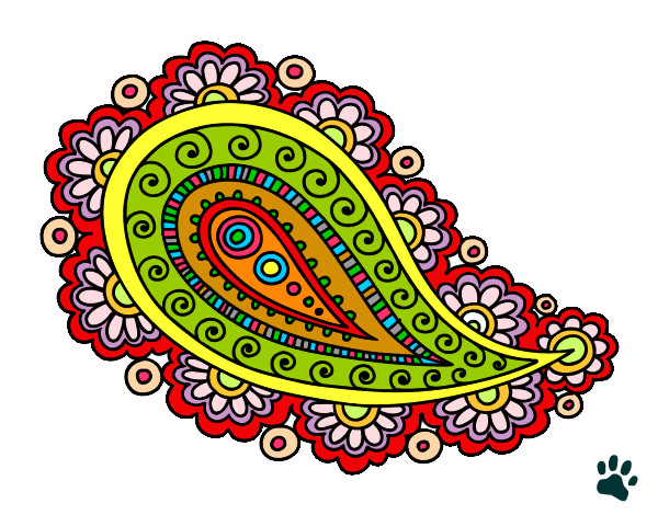 Desenho De Mandala Lagrima Pintado E Colorido Por Pattyzinha O Dia