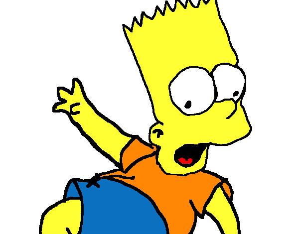 Desenho De Bart Simpson Pintado E Colorido Por Viniiqm O Dia 04 De