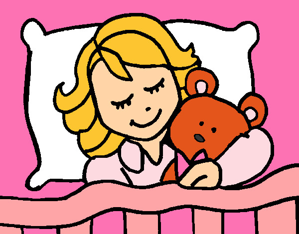 Desenho De Menina Que Dorme Pintado E Colorido Por Crislouro O Dia