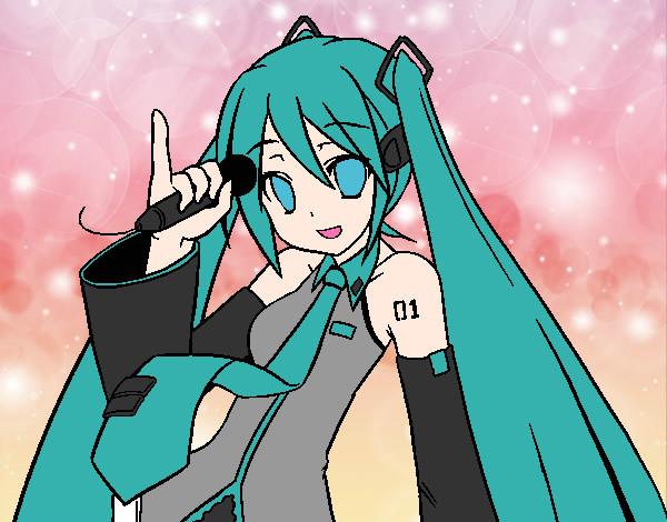 Desenhos De Miku Hatsune Para Colorir Colorir Com