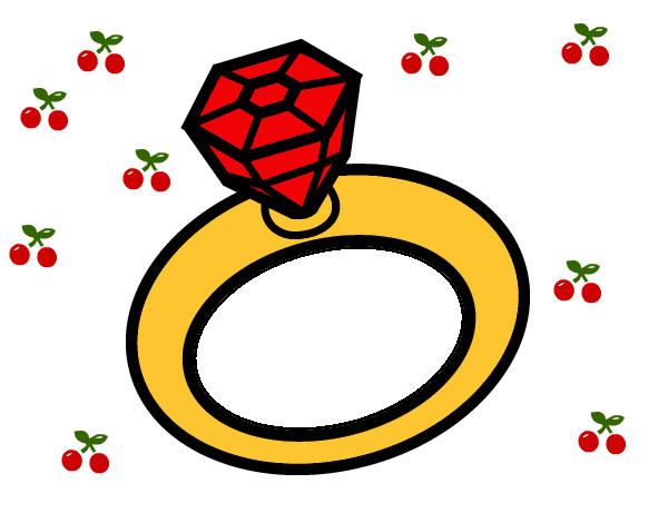 Desenho de aliana de casamento pintado e colorido por nannda o dia aliana de casamento altavistaventures Image collections