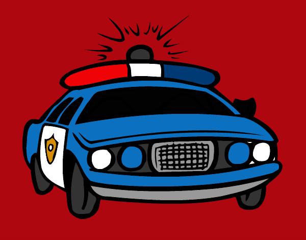 Desenho De Carro De Policia Pintado E Colorido Por Vitao29 O Dia