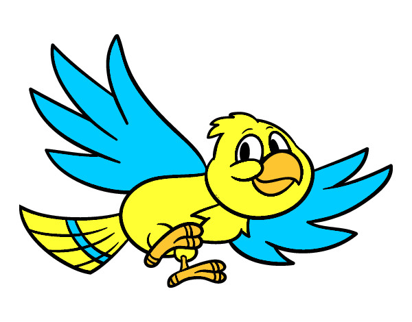 Desenho De Passaro Voando Pintado E Colorido Por Leticia123 O Dia