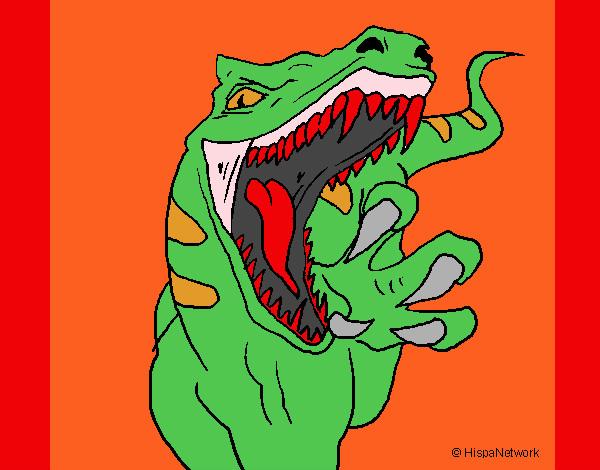 Desenho De Velociraptor Ii Pintado E Colorido Por Megamente O Dia