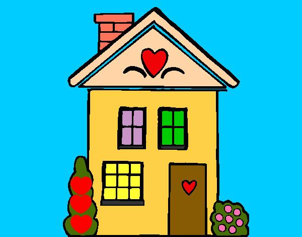 desenhos de família casas pintados e coloridos mas visitados pelos
