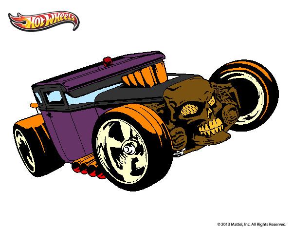 Desenho De Hot Wheels Bone Shaker Pintado E Colorido Por Moto O