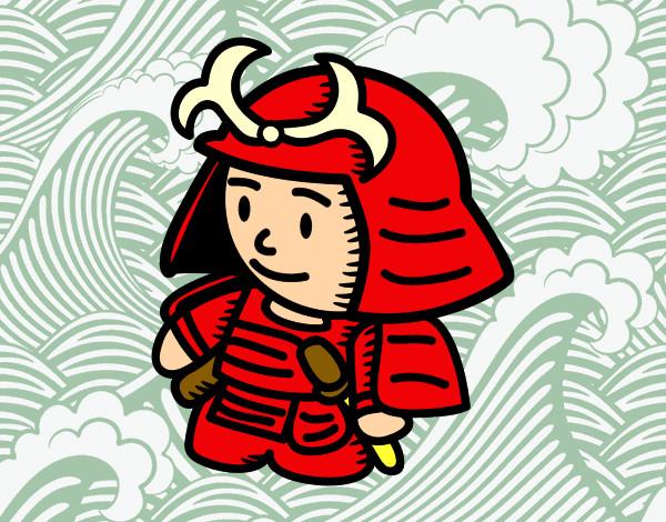 Desenho De Samurai Com Armadura Pintado E Colorido Por Jhonatan9 O