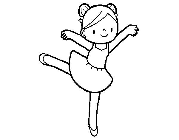 Desenho De Bailarina De Bale Pintado E Colorido Por Luaraazm O Dia
