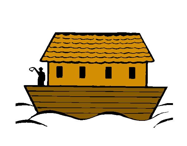 Desenho De Arca De Noe Pintado E Colorido Por Kauanic O Dia 11 De
