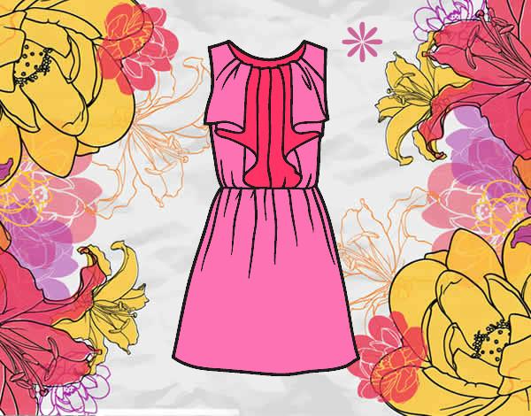 Desenho De Vestido De Festa Pintado E Colorido Por Pipoca O Dia 07
