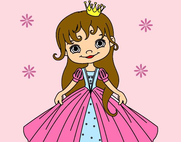 Desenho De A Princesinha Pintado E Colorido Por Pipoca O Dia 08 De