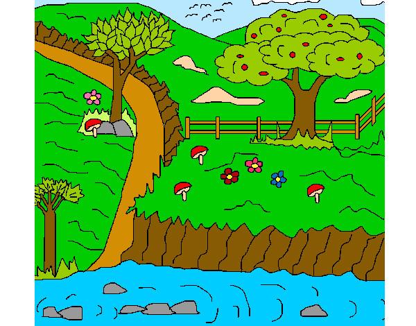 Desenho De Paisagem Rural Pintado E Colorido Por Garcia O Dia 18