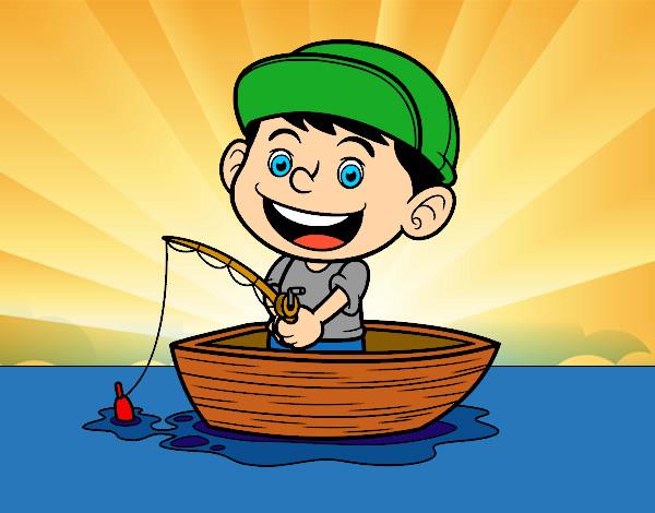 Desenho De Menino A Pescar Pintado E Colorido Por Imshampoo O Dia