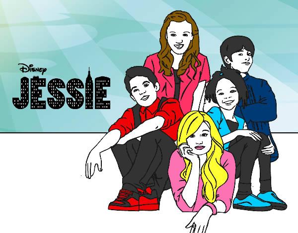 Desenho De Jessie Disney Channel Pintado E Colorido Por Bhunna O
