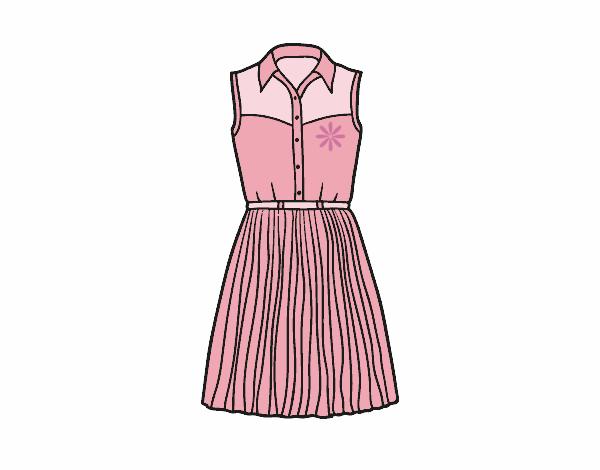 Desenho De Vestido Texano Pintado E Colorido Por Camilas2 O Dia 25