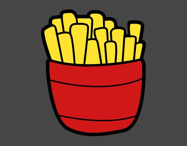 Desenho De Batatas Fritas Pintado E Colorido Por Sorte O Dia 20 De